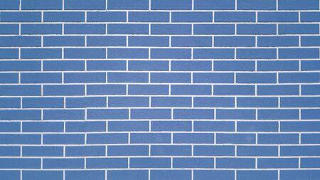 Blue regular brick wall texture background