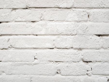 White brick wall pattern texture background