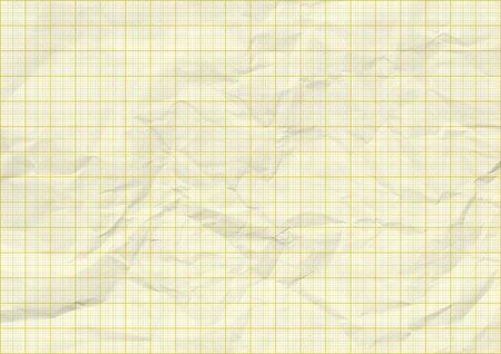 yellow color lines graph folded paper texture Banco de Imagens - 129449931
