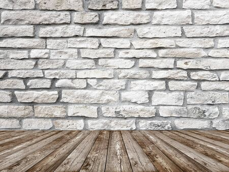 Old white stone brick wall interior background Banco de Imagens - 129449928