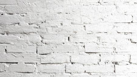 White brick wall texture background Banco de Imagens - 129449958