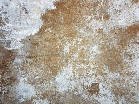 Cracked concrete vintage wall background texture Banco de Imagens - 129449671