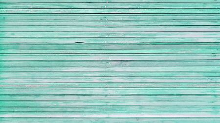 Top view of blue background wooden planks board texture