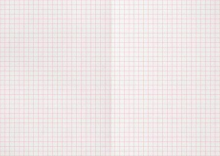 Weißes zerknittertes Papier. Rote Diagrammlinien.