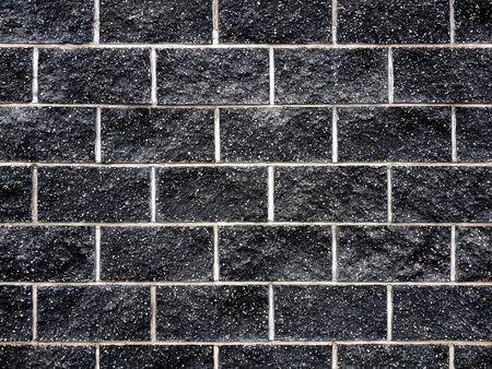 Black brick wall background texture Banco de Imagens - 129449755