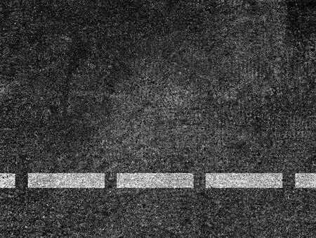 Asphalt road with dividing white line. Banque d'images