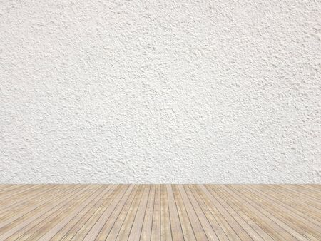 Empty interior painted on solid white color