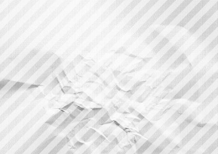 White crumpled diagonal striped paper background