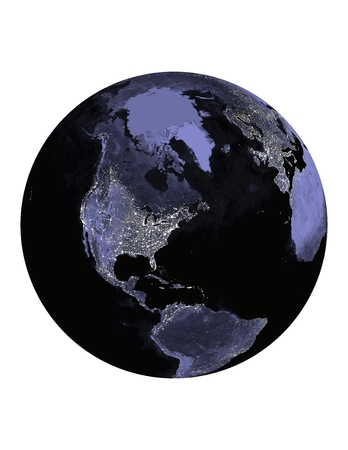 World At Night - Globe - Geen Raster