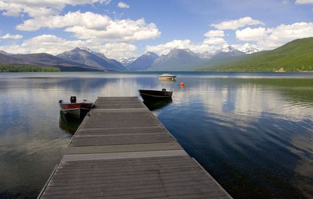 Dock, le lac McDonald, Glacier National Park
