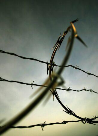 Barbed Wire, East Mooring Basin, Astoria, Oregon Stock Photo - 226903