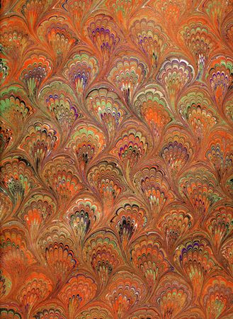 Photo of handmade (by my wife) Renaissance/Victorian Marbled Paper Stock fotó