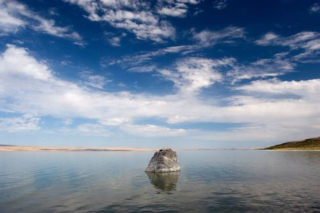scorching: Photograph of Abert Lake in South-Central Oregon, USA