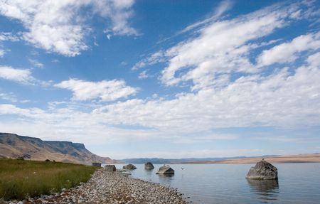Photograph of Abert Lake in South-Central Oregon, USA