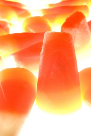 Macro photo of  candy corn. photo