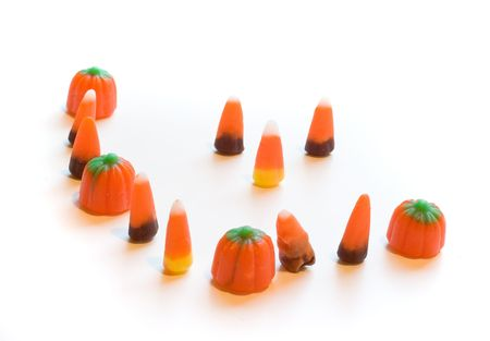 trick or treating: Photo of  an odd group of candy corn.