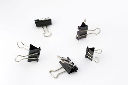 clothespins: paper clips, paperclips, clasps, clothespins, black and white, isolated, grab, grip, orgainze, office, business, tool, utensil, useful object, robert brown, five, group