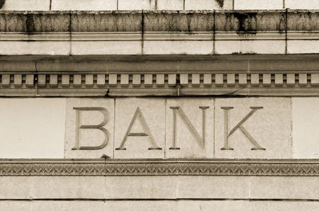 Photo of a marble bank Stock Photo