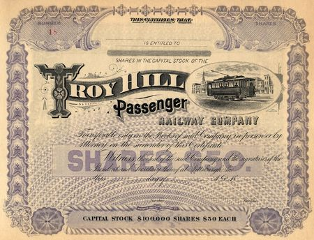 preferred: Photograph of a 19th-Century stock certificate***not under copyright****