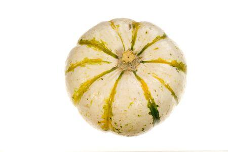 Photo of an ornamental squash on white background Stock Photo