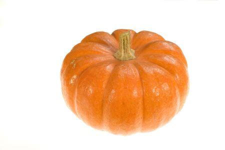 trick or treating: Photo of  pumpkin on white background