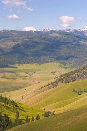 国民のバイソンの範囲、モンタナ州で撮影谷写真