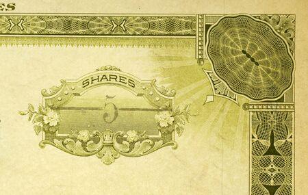 stock certificate: Filmada antiguo almac�n de certificado de 5shares
