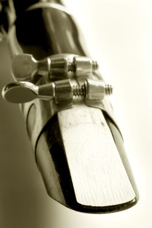 Photo of an old clarinet