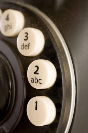 Foto van een zwarte telefoon