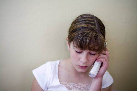 Photo of a pretty girl on the phone