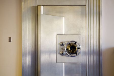 Photo of an attractive, vintage bank safe