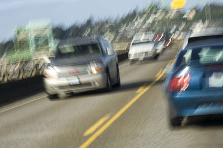 Photo of traffic on the Youngs Bay Bridge in Astoria, Oregon
