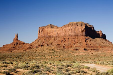 Photograph of Monument Valley right after sunrise. Stock Photo - 461065