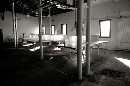 Photo of an abandoned fish cannery in Astoria, Oregon. photo