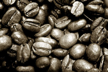 Abstract photo of  pile of espresso beans.