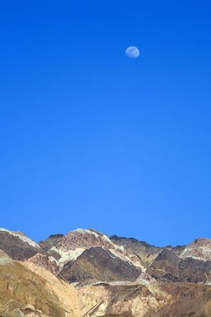 Blue Sky and Moon in Death Valley National Park, California. photo