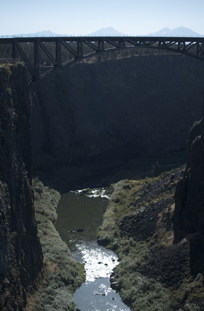 crooked: A view of the Crooked River Gorge near Terrebonne, Oregon.