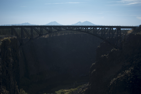 bends: A view of the Crooked River Gorge near Terrebonne, Oregon.