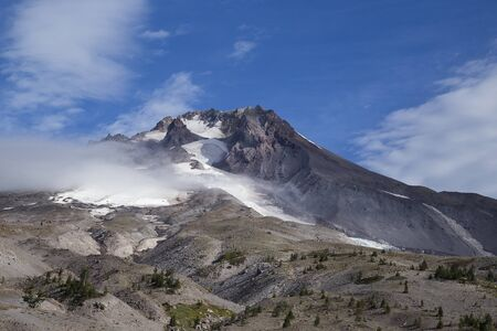 Photo of Mount Hood from Timberline Lodge.