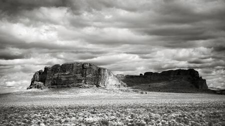 Photo of Fort Rock State Park near Bend, Oregon.