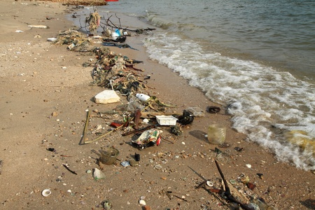 Marine pollution. photo