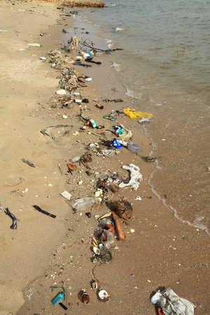 pollution: Marine pollution.
