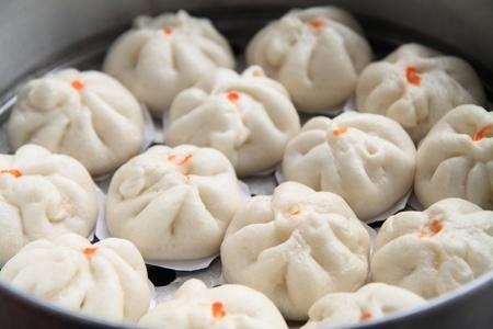 bao: Steamed dumpling Stock Photo