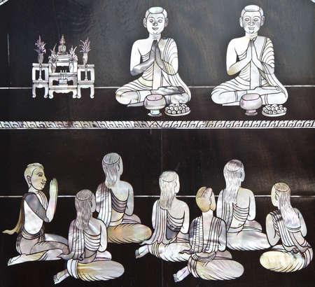chanting: Buddhist monks chanting.