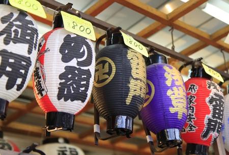 multicolor lantern: Japanese lanterns.