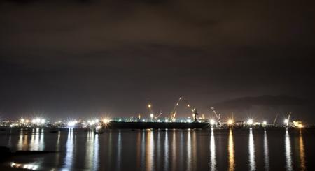 Shipyard at night. Stock Photo - 11804984