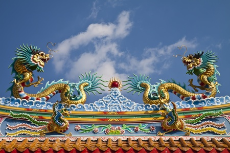 Dragon statue. photo