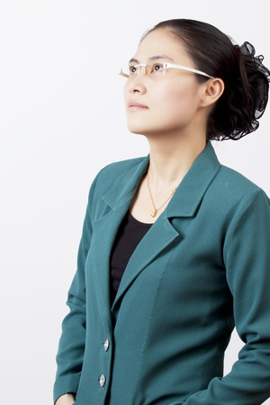Asian business women think of the future. photo