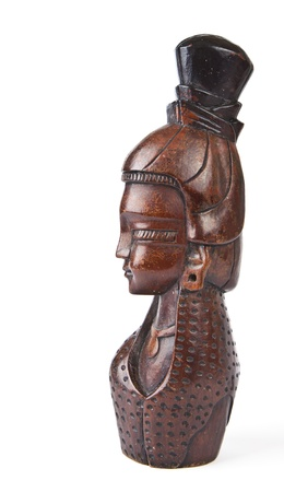 indian artifacts: Wood carving of a face