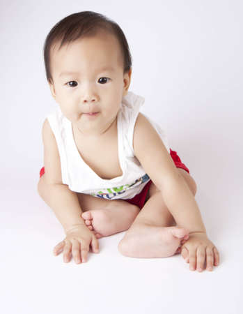 Asian female infants  photo